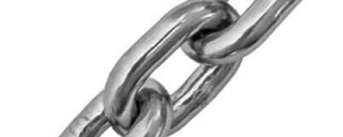 Corrente Inoxidável - Elos Curtos Calibrados DIN 766